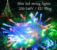 Multicolour outdoor waterproof RGB LED String Lights 30M 220V-240V Christmas Xmas Wedding Party Decorations Garland Lighting