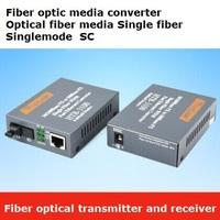 fiber optical transmitter and receiver fiber optic media converter optical fiber media 100M Single fiber Singlemode SC