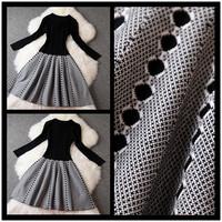 2014 Autumn fashion Wool knitted color block slim elastic one-piece dress tank dress