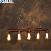 American Style Country Lamp Classic bar personalized vintage loft water pipe decoration pendant light
