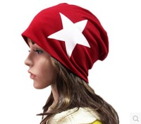 Discount Hat Cap Hot NEW 2014 Autumn and Winter Leisure Pure Cotton Cap Star Pattern Multicolor Unisex Headgear Free Shipping
