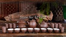 19pcs worthwhile Chinese yixing zisha tea set kung fu tea pot gaiwan fair cup filter net