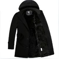 2014 woolen winter outerwear thickening medium-long men's clothing fashion wool coat