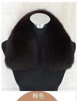 100% Real fox fur collar square collar Men women's genuine leather fur fox muffler scarf  9color stock