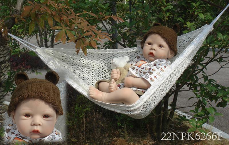 Baby doll 50cm Silicone Reborn Baby Dolls Vinyl lovely Reborn Baby Doll Kits Free Shipping(China (Mainland))