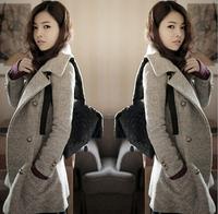 Women coats 2014 autumn and winter woolen cloth slim medium-long coat outerwear women's windbreak clothing ,D2660