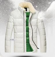 2014 new men down coat Men's coat Rabbit fur collarWinter overcoat Outwear Winter jacket PU jackets outdoor
