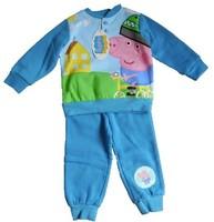 NEW ARRIVAL 2014 BIG order Peppa pig pajama George clothing child fleece sweatshirt lounge set winter indoor clothing set