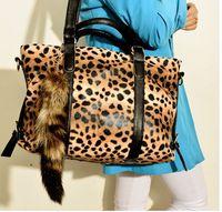 Big bags 2014 fashion leopard print shoulder bag handbag cross-body women's handbag