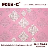 Flower shape fondant lace mold,sugar lace silicone pad,wedding cake,cake lace mould