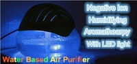 Versatile water based air purifier, air refreshener with multifunction of Humidifying, Negative ion, LED light and aromathearpy