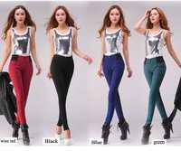 Big sale 2014 winter women High waist thickening plus velvet skinny jeans warm fleece elastic waist pencil pants free shipping!