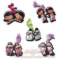 Cute Headwear, 5pairs/lot Doc Mcstuffins Hot Cartoon Logo  Baby Girls Kids Hair Clips/Elastic Hair Bands/Hair Accessories,Gift