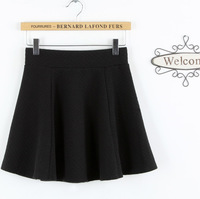 Fast free shipping new 2014 autumn and winter fashion solid color high waist thick a short half-length skirt plus size