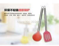 2 piece silicone SPOON ladle and kitchen spatula  for nonstick cookware dinnerware