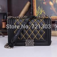 new fashion sheepskin shoulder bag genuine leather handbag chain small bag shoulder diagonal portable ladies bag