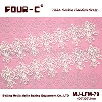 Flower shape cake lace mold,sugar lace silicone lace mold,wedding cake,flower shaping fondant mat
