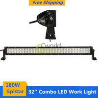 New 32 inch 180W Epistar Combo LED Work Light Bar for Offroad Car 4X4WD Boat