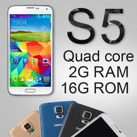 Real Fingerprint s5 phone  I9600 SM-G900 Quad core MTK6582 13MP 2GB ROM 16GB ROM Heart sensor Android 4.4 phone