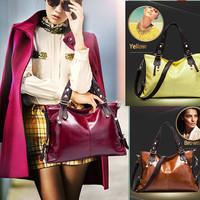 Fashion 2014 Women PU Leather Handbags Messenger Bags Vintage  Elegant Bag Portable Shoulder Bag Lady Cross-body Bolsas ay840400
