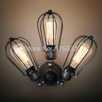 Loft Vintage Nostalgic Industrial Lustre Ameican Fan Edison Wall Sconce Lamp bathroom Beside Bedroom Home Decor Modern Lighting