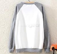 Free Shipping Women Casual Pullovers Long Sleeve Cartoon Owl Printed Pocket Sweats Sweatshirt Hoodies Tops SV17 CB030617