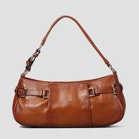 Guarantee 100% Genuine Leather Women's bag Fashion vintage Small handbag Brown leather Single shoulder bag for women 2015