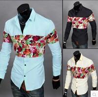 2014 New Fall And Winter Blast Mens Supplier Slim Fit Brand Shirt  Men'S Long-Sleeved Printing Dress Shirt Men'S Shirt RY17