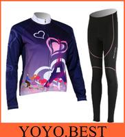 SAHOO 2014 New Woman Fleece Long Sleeve Cycling Jersey+Pants Sets Winter Thick Thermal Sports Mountain Bicycle Coat freeshipping