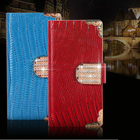 New Arrival Fashion Luxury Lizardstripe leather PU bag back Cover Banquet phone case for iphone 6 PT6022