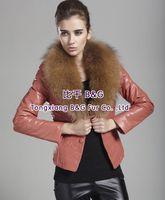 BG80101 Genuine Sheep Leather Jacket Wholesale Retail Women Leather Jacket With Fur Collar Leather Jacket
