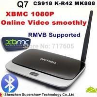 XBMC 1080p Android tv box Quad core Android 4.4.2 RAM 2GB Flash 8GB Bluetooth Q7 CS918