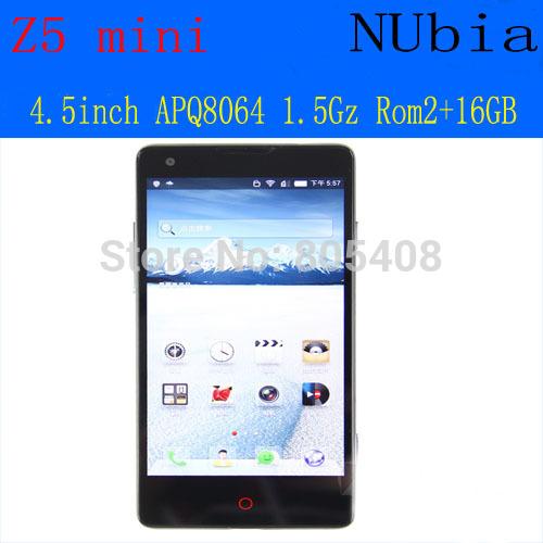 "Zte nubia z5 mini phone Qualcomm APQ8064 Quad Core 1.5GHz 2GB RAM 16GB ROM 4.7"" 1280 x 720 Screen 5MP+ 13MP Dual Camera wifi(China (Mainland))"