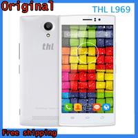 Original ThL L969 1GB RAM 8GB ROM 4G LTE Android 4.4 MTK6582M Quad Core CPU 5.0'' Screen Dual Camera White Black Mobile Phone