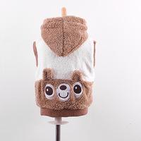Free shipping 2015 Spring Bear hooded vest coral fluff Korean boy vest baby clothing Cartoon baby vest