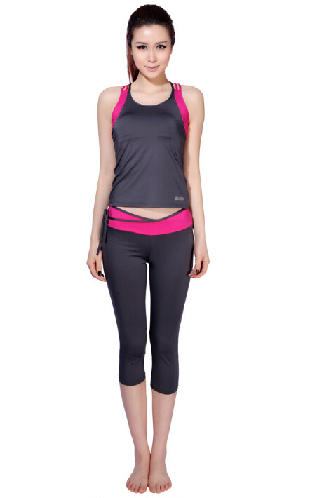 2014 brand suit fitness clothes tight running