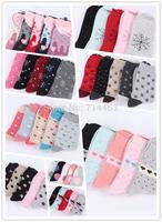 New Quality HOT wool classic female sock women's socks warm adults dot patterned Snowflakes Monkeys Christmas gift 80% cotton