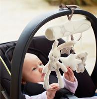 Baby Stroller MaMas Papas Rabbit Toys Hanging Rattle Bunny Plush Musical Mobile