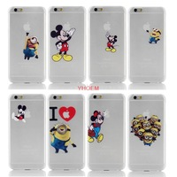 1PC Ultral-thin Logo Clearly Funny Design Cell Phone Case Cover Shell For Apple iPhone 6 iPhone6 Cases Covers