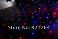 Free shipping Whole sale 4*6m RGB led star cloth  for sale