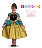 Brand Frozen Girls Summer Dress Frozen Princess Chiffon Dress vestidos de menina Anna&Elsa Baby Dress Kids Party Wear