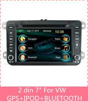 7 inch touch screen 2 din car dvd player gps For VW B6 / Sagitar / Magotan vehicle gps navigation automotivo mp3 player C7010VM