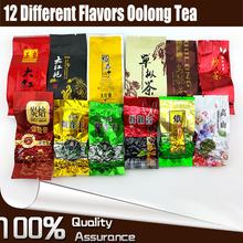 12 Different Flavors Oolong Tea including Milk Oolong, Tieguanyin, Ginseng Oolong, Dahongpao, Dancong, Chao Cha 12 pcs Total 93g(China (Mainland))