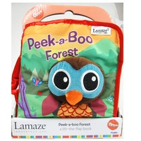 Colorful funny 3D cloth English book Peek-a-boo Forest cloth book baby Developmental toys bed hanging decoration toys