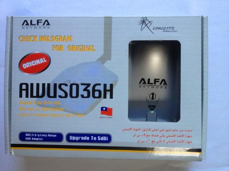 Freeshipping New 2pcs/lot High power ALFA AWUS036H 1000mW wireless adapter with 5db antenna Realtek8187L chipset(China (Mainland))