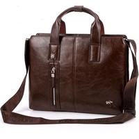 2014 New Men's Handbag Business Leather Bag Computer Bag free ship