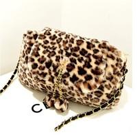 2014 Wholesale 5colors Winter bag Fashion women handbag black and white shoulder messenger bag Leopard chains tote dot printing
