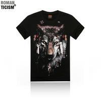 Men's short-sleeved cotton T-shirt 21 Styles 3D Logo 5 Size S-M-L-XL-XXL