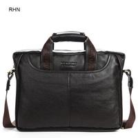 Men's Handbag PU Genuine Leather Business Bag Free Shipping