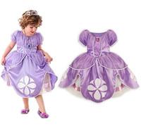 2014 New Designer Frozen Dress  Sophia Princess Dress Custume Dress Cute Irregular Cake dress for Party Freeshipping
